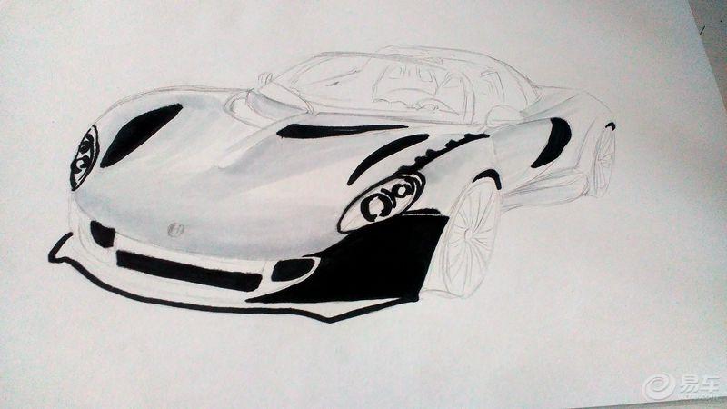 马克笔画汽车 再画赛道神车Venom GT