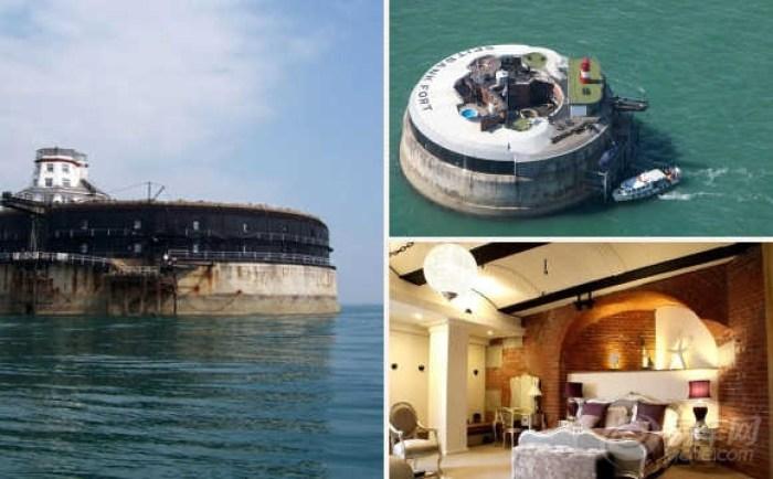 """探访英国""""无主之地""""海上城堡:横跨海面60米"""