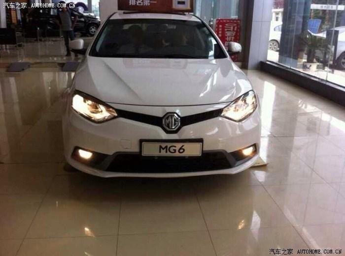 昨天在汉阳某店看车看到新款MG6,一个帅字怎呜呜呜表情图图片