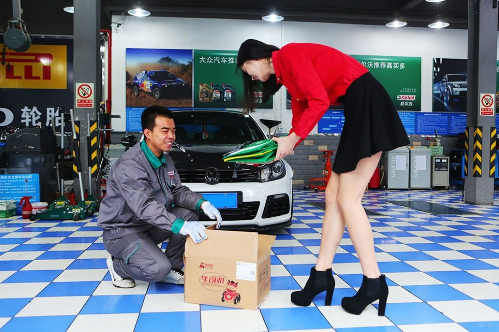 【汽修店高大上小说高尔夫R20改装车做v小说二次元美女美女图图片