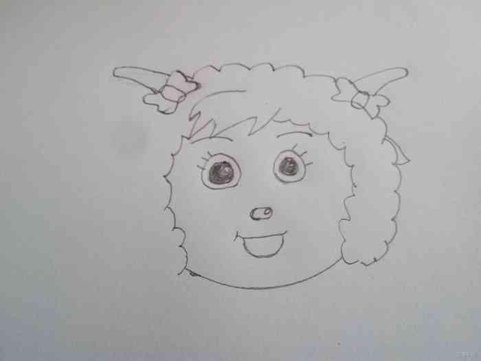 羊年教宝宝画小羊_乐乐简笔画