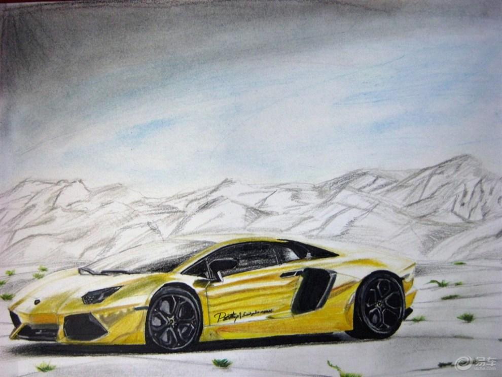 赛车车子画画图片大全图片