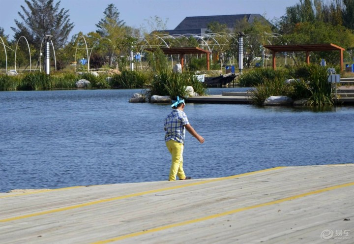 【超宝动起来】着宝宝在小鲤鱼湖边玩