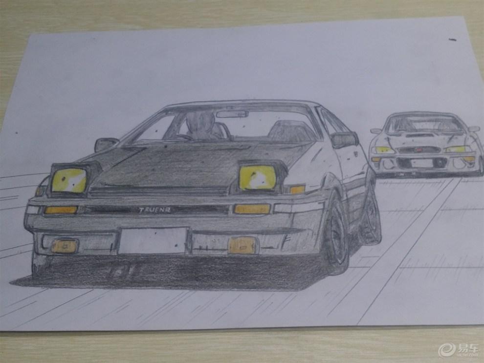 【手绘汽车季】活动项目一 乐乐在家画ae86