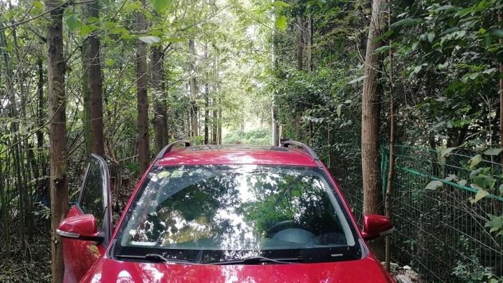 【四川长安suv联盟】小雨淅淅沥沥,穿越丛林,路遇古刹