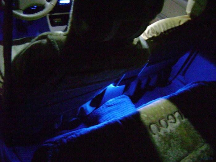 也晒晒我的小车灯光改装作业高清图片