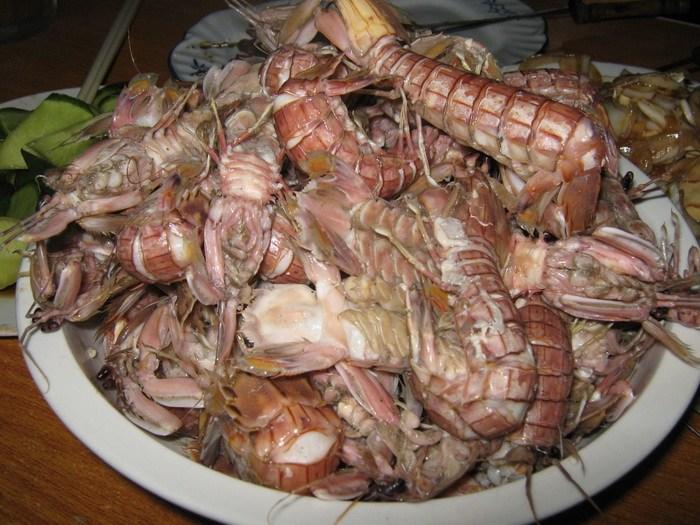 青岛大排档皮皮虾实拍图
