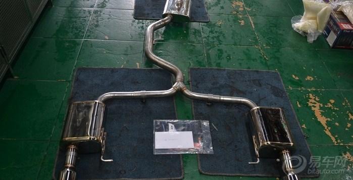 汽车联盟本会图集图片  暂停大众r36改装四出aspec排气管大高清图片