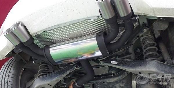汽车论坛地区论坛湖北本会图集图片  暂停大众尚酷改装排气管高清图片
