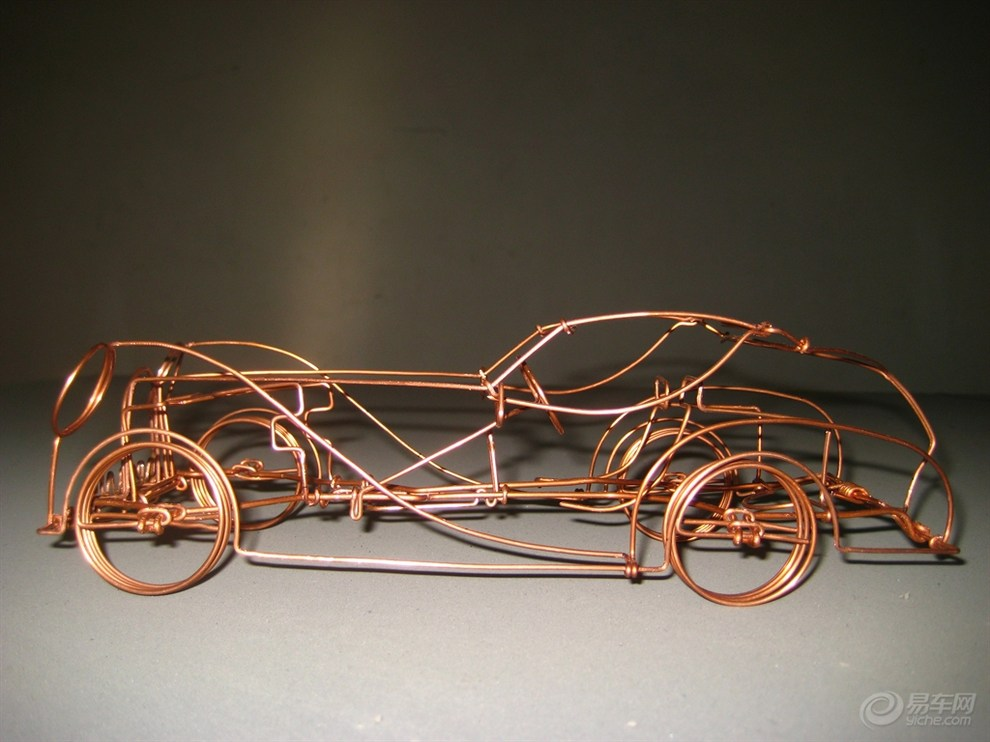 铜丝手工制作汽车工艺品