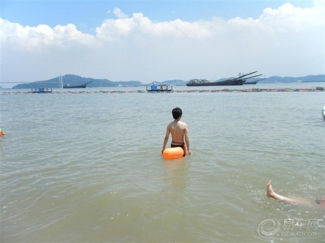 【珠江入海口,南沙滨海1游】大角山滨海公园泳场游水,晒黑了!