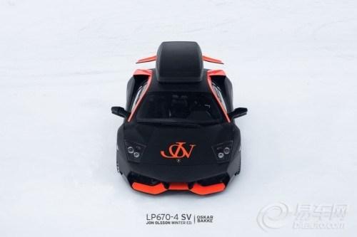 兰博基尼 雪橇式 车顶行李架特别版lp670 4 s高清图片