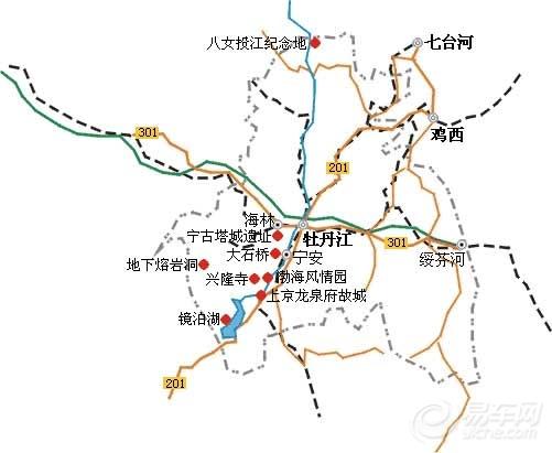 【牡丹江市地图_自驾游攻略